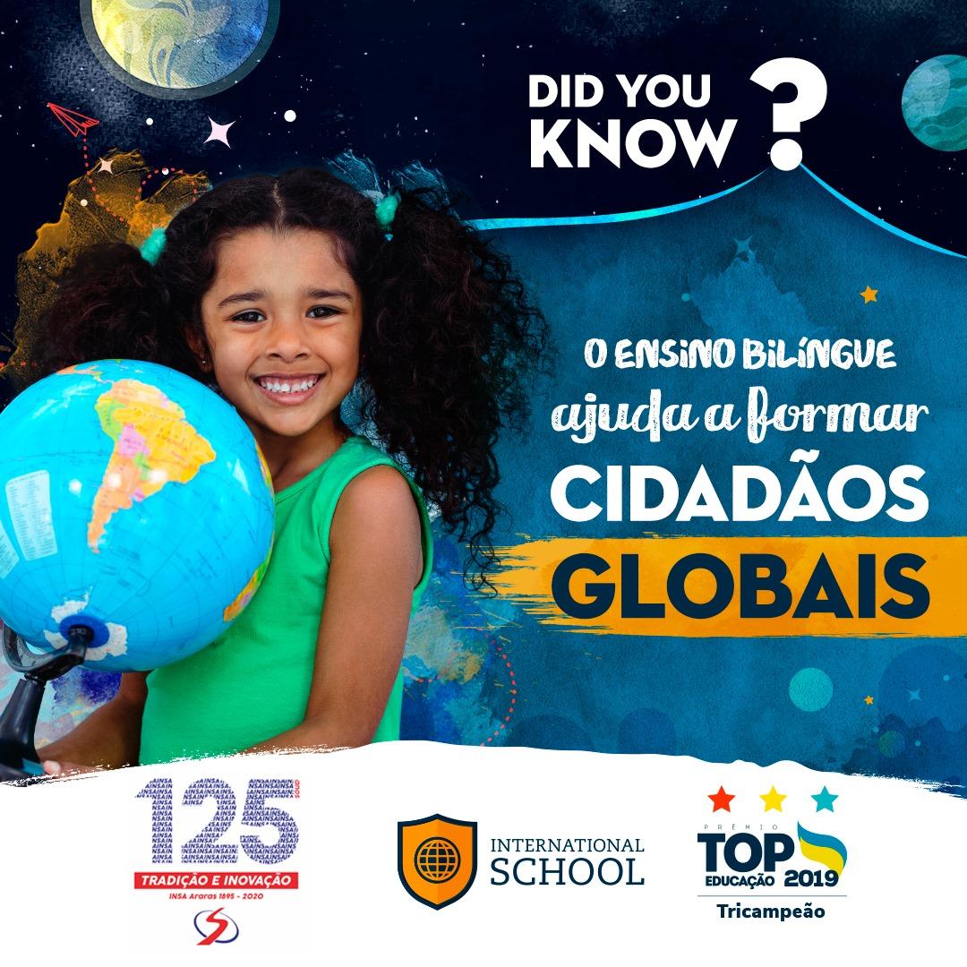 O ensino bilíngue ajuda a formar cidadãos globais